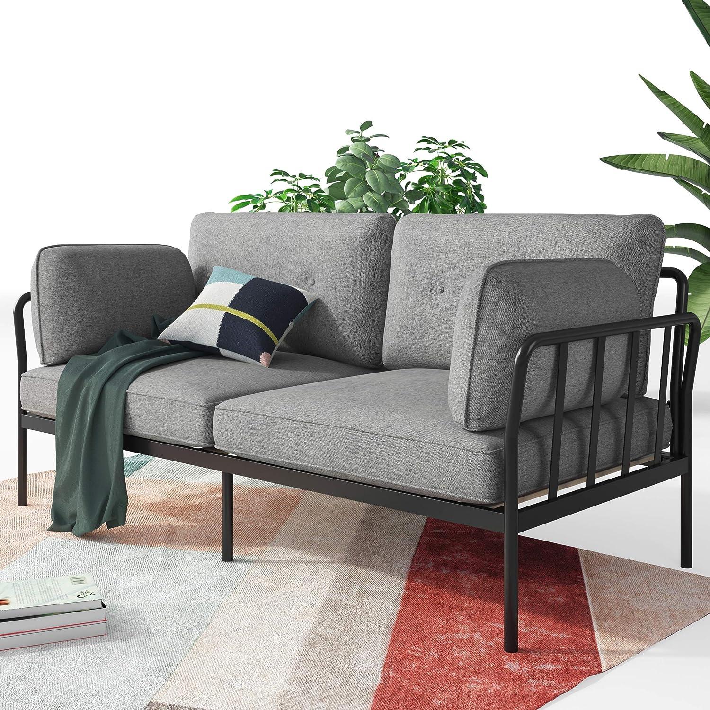 ZINUS Courtney Black Metal Sofa Framework Max 85% OFF Steel with Popular standard Upholster