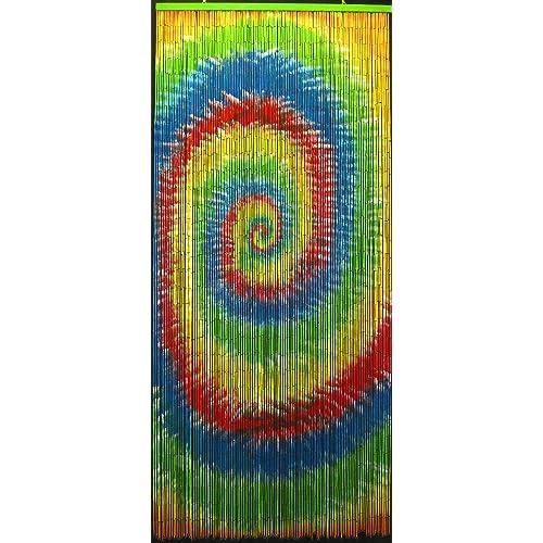 Bon Tie Dye Beaded Curtain 125 Strands (+hanging Hardware)