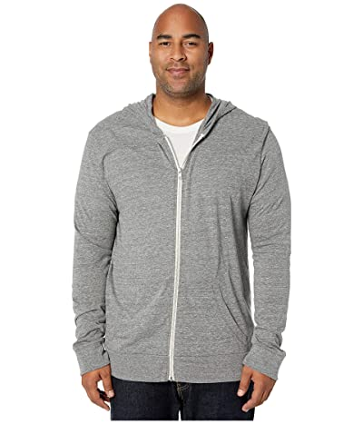 Alternative Big Tall Eco Zip Hoodie (Eco Grey) Men
