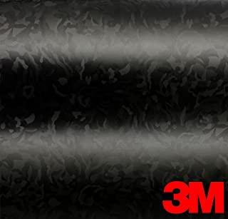 3M Black Shadow Camouflage Automotive Vinyl Featuring Air-Release Adhesive (3ft x 5ft)