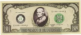 Set of 100-president Thomas Jefferson Million Dollar Bill