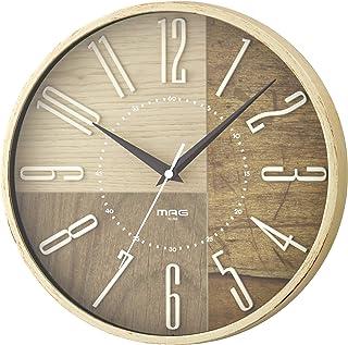 MAG(マグ) 掛け時計 電波 アイボリー 直径29cm アナログ ココア 立体文字板 夜間秒針停止 W-769IV-Z