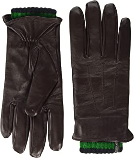 Scotch & Soda Double-Layered Leather and Knitted Gloves Guantes para Hombre