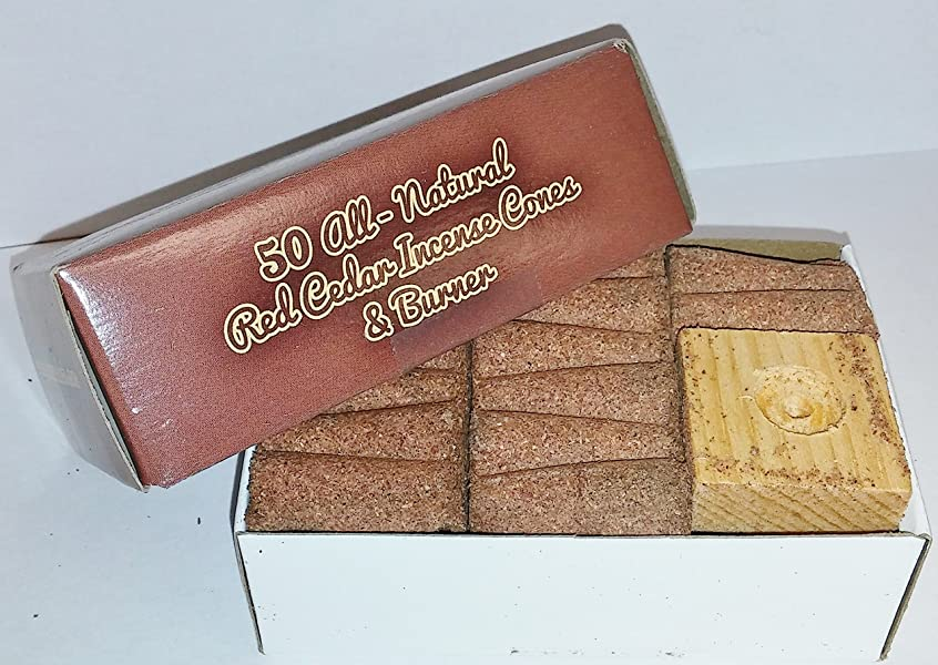 ジェームズダイソン不適切な捨てるIncense & Burner Comes w/50?Red Cedar Cones Paineの木製ホルダーLodgeスタイル