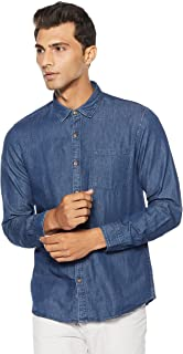 Ruggers by Unlimited Men's Solid Regular Fit Casual Shirt