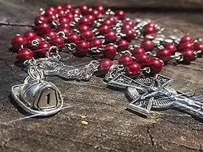 Catholic Rosary. Fireman Rosary. Firefighter Rosary. Fireman Gift. Firefighter Gift. Fireman. Firefighter. Catholic Prayer Beads. Prayer Beads. Rosary Beads. Fireman Helmet. Catholic Gift. Catholic