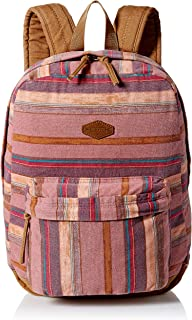 Women's Classic Canvas Backpack, Wine/Shoreline, One Size