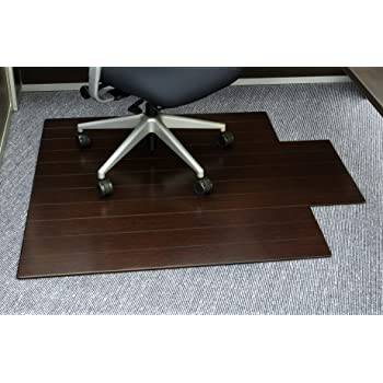 Amazon Com Anji Mountain Bamboo Roll Up Chair Mat Without Lip Dark Cherry 48 X 72 5mm Thick Furniture Decor