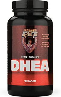 Healthy 'N Fit Dhea 50 mg - 100 Caplets- Boosting Strength and Lean Muscle Mass, Restoring Energy Levels, and Promoting Healthy Aging in Men and Women