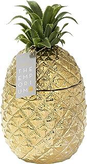Seau à glaçons or ananas avec couvercle, ajout de qualité supérieure à votre chariot à boissons | Accessoire de bar rétro...