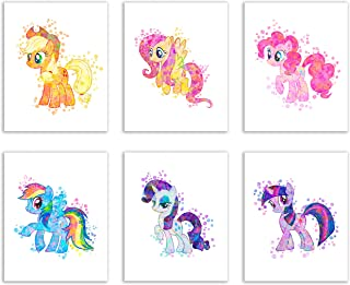 My Little Pony Wall Art Prints Decor - Set of 4 (8x10) Girls Poster Photos - Kids Bedroom Nursery