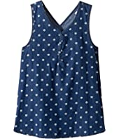 Splendid Littles - Printed Denim Cross Back Tank Top (Big Kids)