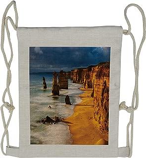 Lunarable Coastal Drawstring Backpack, 12 Apostles Australia, Sackpack Bag