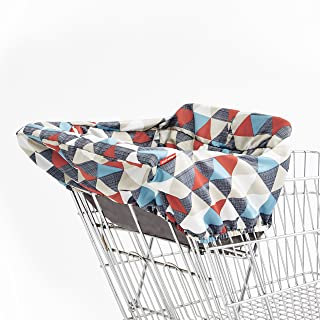 Skip Hop Baby Shopping Cart & High Chair Cover: Machine Washable Cart Liner with Padded Seat, Triangles