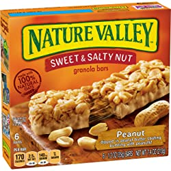 Nature Valley Granola Bars, Sweet and Salty Nut, Peanut, 6 Count