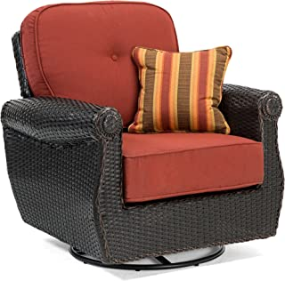 La-Z-Boy Outdoor ABRE-SRL-1PK-R Outdoor Chair, Brick Red