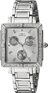 ساعة انفيكتا للنساء 5377 مربعة انجل دايموند ستانلس ستيل كرونوغراف
