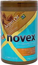 Embelleze Novex Argan Oil Deep Conditioning Hair Mask 35 oz Daily Hydrating Mask, Prevents & Repairs Split Ends, Reduces Frizz, Smoothes, Straightens All Hair Types. Great For Women and Men & Children
