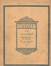 Accolay: Concerto No. 1 in A Minor For Violin with Piano Accompaniment (Schirmer's Library)