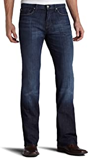 "7 For All Mankind Mens Austyn Relaxed Straight 36"" Long in Los Angeles Dark"