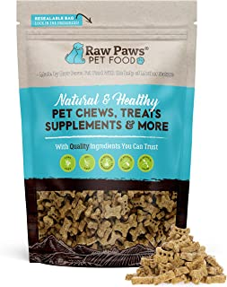 Raw Paws Mini Dog Biscuits - Made in USA - Mini Dog Bones for Puppies - Small Training Treats for Dogs - Low Calorie Sweet...