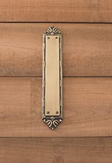 BRASS Accents A05-P7230-609 Ribbon & Reed Push Plate, 2-1/2