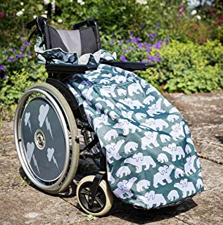 100% Waterproof Fleece-Lined Wheelchair Cozy Cover | Universal fit for Manual and Powered wheelchairs | Adult Size (Polar Bear)