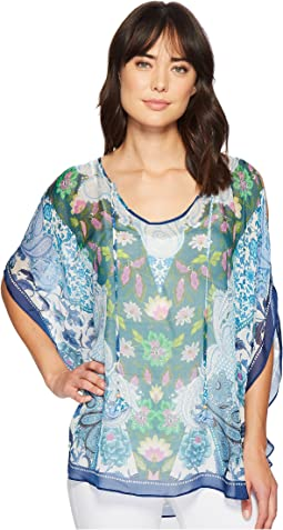 Hale Bob - Simply Irresistible Washed Silk Chiffon Tunic Top