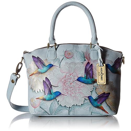 Anuschka Hand-Painted Leather Medium Convertible Satchel   Top Handle Shoulder  Bag Purse 9773d4ff2e