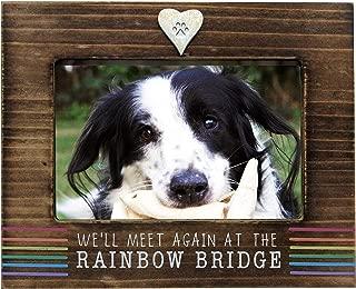 We'll Meet Again at The Rainbow Bridge Dog or Cat Memorial Photo Frame for 4 x 6 Inch Photo