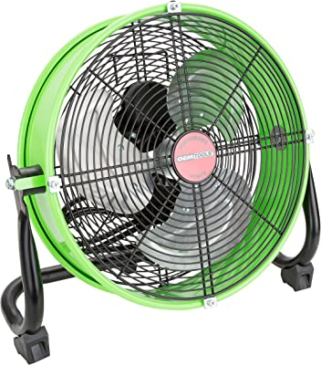 OEM Tools OEMTOOLS 24892 12 Inch Green High-Velocity Tilting Workspace Fan, 12""