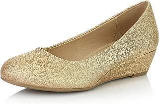 Women's Comfortable Fashion Low Heels Round Toe Wedge...