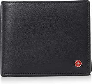 RFID Mens Wallet Deluxe Capacity Passcase Bifold With Divided Bill Section