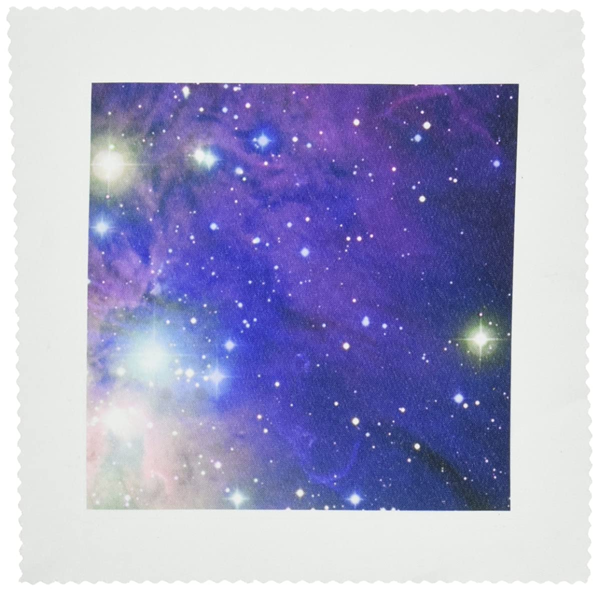 3dRose qs_112992_1 Cool Outer Space Stars and Planets Dark Blue Design-Science Fiction Sci-Fi Geek Astronomy Nerd-Quilt Square, 10 by 10-Inch