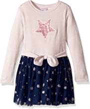 Youngland Toddler Girls' Sparkle Sweater Knit Tutu Dress with Applique