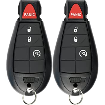 ANGLEWIDE Flip Key Fob Keyless Entry Remote Control 3 Buttons Black Replacement for Ram 4000 4500 5500 1500 2500 3500 13-17 1pad FCC GQ4-53T