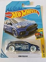 Hot Wheels 2018 Hw Art Cars 3/10 - Ford Focus RS (Blue)