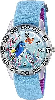 """ساعة ديزني """"فايندنج دوري"""" كوارتز بلاستيك و نايلون للبنات - اللون: أزرق موديل W003016"""