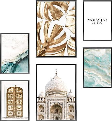 Heimlich® Tableau Décoration Murale - sans Cadres - Set de Poster Premium pour la Maison, Bureau, Salon, Chambre, Cui...