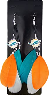 NFL Miami Dolphins Feather Earrings