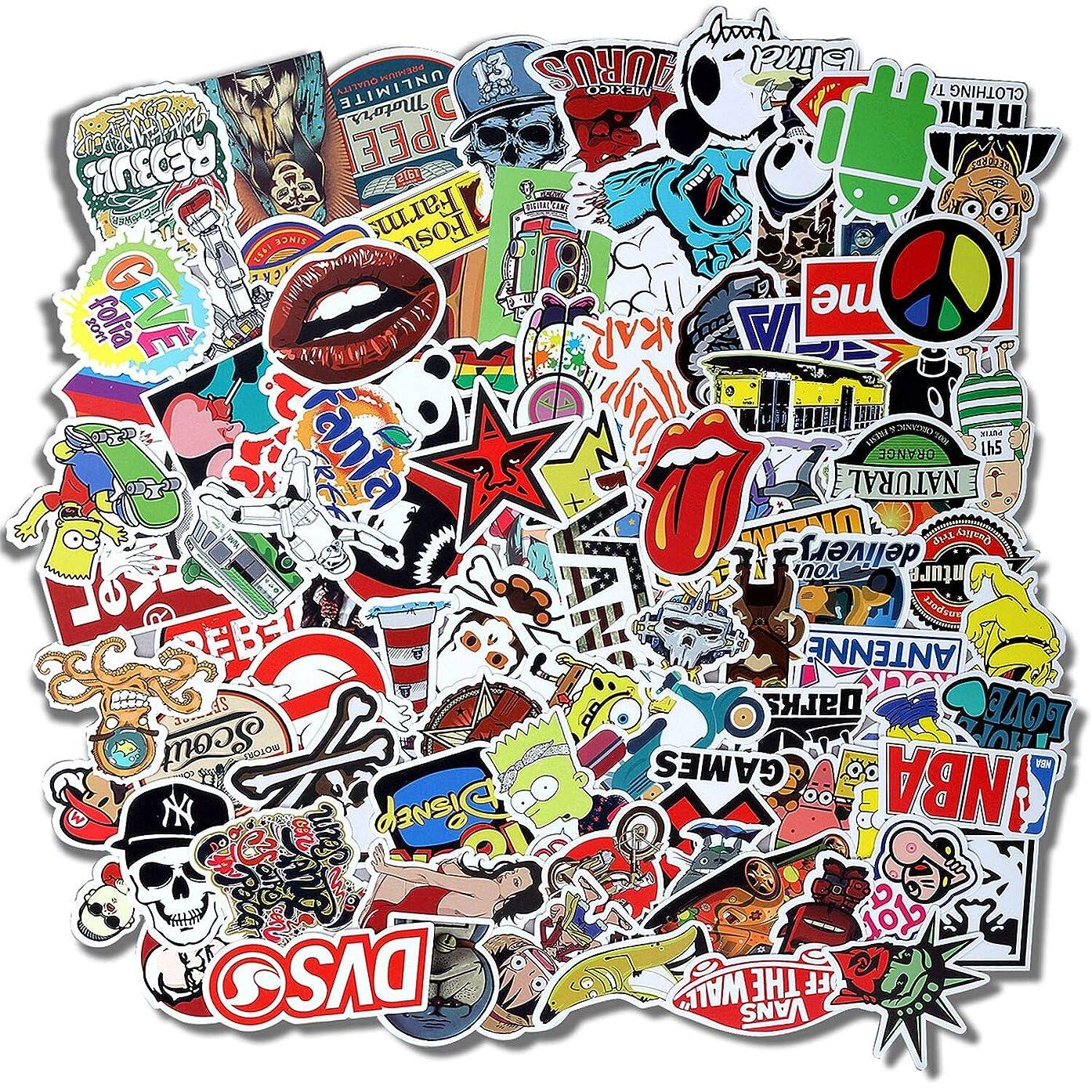 Graffiti Vinyl Stickers for Laptop Door Window,Car,Motorcycle Bicycle,Luggage, Skateboard(100 pcs) No-Duplicate Sticker Pack