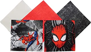 Spiderman - Spiderman Fabric Pack - Quilting Fabric - Charm Pack for Quilting - Quilt Charm Pack - 100% Quilting Cotton - (Spiderman 2)