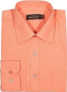 Alberto Danelli Men's Solid Long Sleeve Dress Shirt