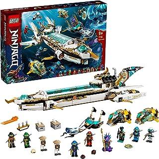 LEGO 71756 NINJAGO Hydro Bounty Building Set, Submarine Toy with Kai and Nya Minifigures