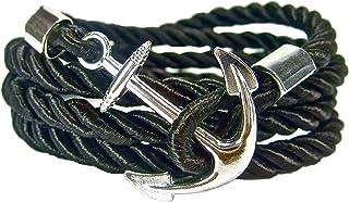 IriCor Bracelet Ancre Maritim Unisexe Noir 21