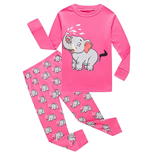 674d4218367d1 Family Feeling Zebra Little and Big Girls 2 Piece 100% Cotton Pajamas Sets  Kids PJS