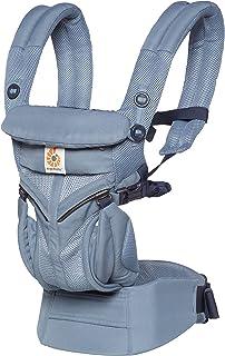 Ergobaby babybärare för nyfödda, 4-positioner Cool Air Mesh Omni 360 Oxford blå, baby-bärväska barnbärare bakstycket
