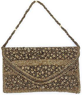 ADORA FASHION INDIAN HANDMADE CLUTCH BAG FOR WOMEN ADORA ACI 146 GOLD