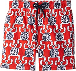 Primitive Turtles Swim Trunk (Big Kids)