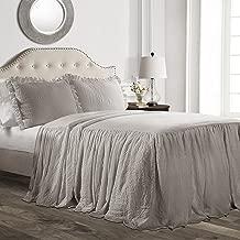 Best grey ruffle bedspread Reviews